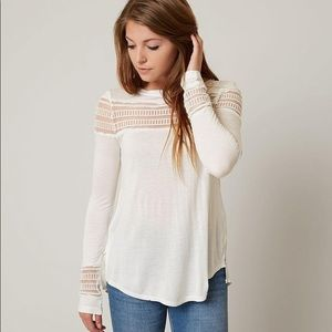 NWT Free People Mesh Inset Top